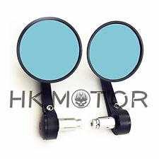 """Billet CNC Bar End Mirrors 7/8"""" 22 Black For Yamaha SR500 XS650 CB750 Cafe Racer"""