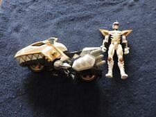 New listing Power Rangers Dino Thunder White Ranger Bike and Figure