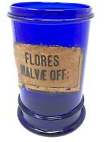Ancien Pot à Pharmacie Poudre de Sabine Verre Soufflé 19 eme Antique Glass XIX