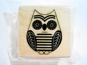 Owl Stamp - New Fall Autumn Wood Mounted Rubber Stamps