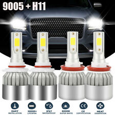 4x Combo H11 +9005 LED Headlight 2800W 420000LM High Low Beam Combo Kit 6000K