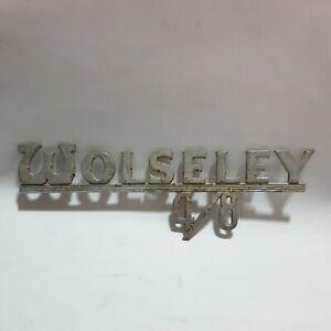 ORIGINAL GENUINE WOLSELEY 4/8 Vintage Metal Car Logo Bonnet Boot Emblem Badge