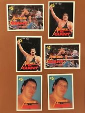 Andre The Giant - Lot Of 6 1989 Titan WWF Cards NM/MINT - #10, 66, 140