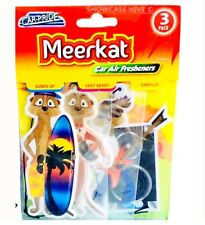 Pack Of 3 Meerkat Car Air Fresheners Surfs Up Vanilla & Very Berry Scents