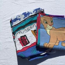 Lion King Twin Flat & Fitted Sheets Disney Simba 50% Cotton/ 50% Polyester