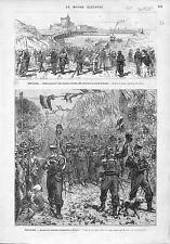 Guerra Carlista Carlist War Espana Spain Carlismo Bilbao ANTIQUE PRINT 1874