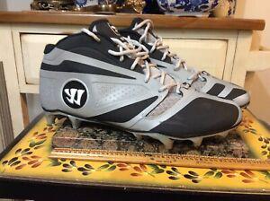 Warrior Burn 7.0 exploweave Mens Lacrosse cleats shoes  Gray/Black size US-12