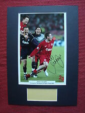 LIVERPOOL LEGEND JAMIE CARRAGHER CARRA SIGNED 2005 A3 MOUNTED PHOTO DISPLAY- COA