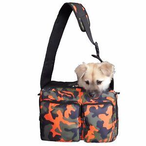 Dog Cat Pet Carrier Sling Bag Puppy Hands-free Crossbody Shoulder Bag w/ Leash