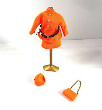 Topper Dawn Doll Clothes Town N Tailored Orange Suit Hat Purse Doll Stand