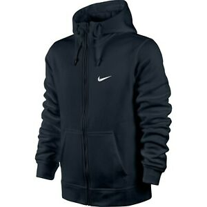 Mens Nike Zip Hoodie Sweatshirt Hoody Hooded Jumper - Navy Blue - Medium
