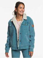 New NWT Women's Roxy Desert Sands Sherpa-Lined Corduroy Jacket Size Small