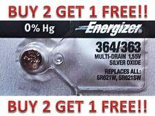 ENERGIZER 364/363 SR621W SR621SW BATTERIES NEW BUY 2 GET 1 FREE!!