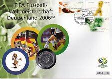 Deutschland Numisbrief 10 Euro Silber 2004 Fussball Football Worldcup 2006