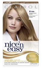 2 x Clairol Nice n Easy 8 Natural Medium Blonde Permanent Colour Hair Dye Ladies