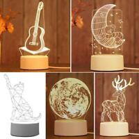 3D LED Nachtlicht Schreibtischlampe Tischlampe Kinder Geschenk Dekoration Lampe