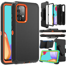 For Samsung Galaxy A12 A32 A52 5G Case, Hybrid Shockproof Cover+Stand Belt Clip