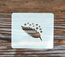 Stars Feather Face Painting Stencil 7cm x 6cm 190micron Washable Reusable Mylar