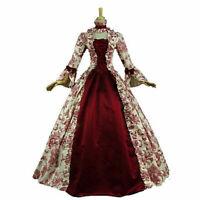 Retro Women Victorian Queen Cosplay Costume Dress Medieval Renaissance Dresses