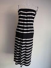 """Wish"" Size L - Fantastic Ladies Black/White Stripe Dress. Perfect! Bargain!"