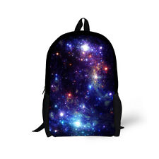 Kids Galaxy Print School Bag Boys Cool Backpack Bookbag School Rucksacks Satchel