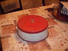 Vintage / Antique Metal Cake Cover with Glass Knob