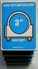 "(4)  3""  Muffler Clamp U-Bolt Saddle Style Steel 3/8 U BOLT - MADE IN USA"