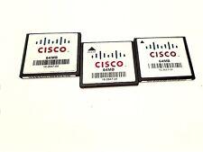 LOT 3 X CISCO 64MB COMPACT FLASH MEMORY 16-2647-04 2811 2851 3825