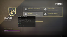 Destiny 2 Flawless Seal only TRIUMPH Safe Harbor PS4/XBOX/PC