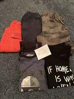 Lot 5 Boys Long Sleeve T-shirt's, Pants, Shorts,Size -S(5-6)&7 Read Description