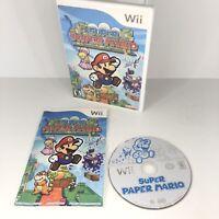 Super Paper Mario (Nintendo Wii, 2007) CIB Complete with Manual