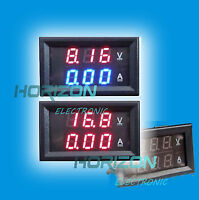 DC 0-100V 5A 10A 20A 50A 100A Dual LED Digital Voltmeter Ammeter