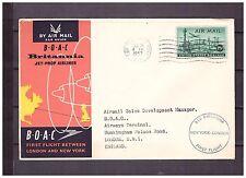 s16171) USA 21.12.1957 BOAC 1st Flight New York London UK