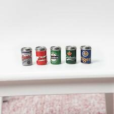 1:12 Dollhouse Miniature 5pcs Mini Assorted Beer Cans Food & Groceries Bar Beer