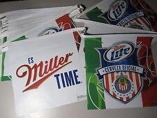Miller Lite Chivas string banner bar time sign Soccer Mexico Cerveza light T40
