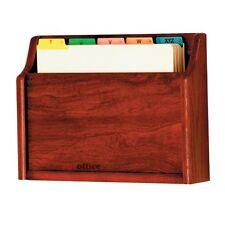 Wooden Mallet Ch15-1 Mahogany Single Pocket Wall Mounted File / Chart Holder
