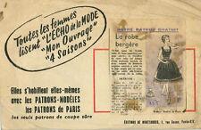 Vintage La Bata Bergére francés patrón de costura G137 tamaño 44