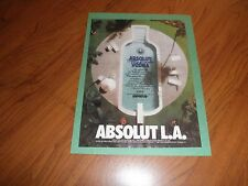 ABSOLUT LOS ANGELES  AD -1994-Original Magazine Print