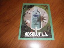 ABSOLUT LOS ANGELES  AD -1994-Original Magazine Print