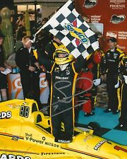 Simon Pagenaud signed 8x10 Victory Lane photo Irl Indy with Coa
