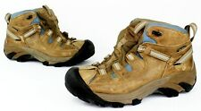Keen Alamosa Mid Hiking Trail Boots Brown Baby Blue Women's Size 6.5 EUC 1007730