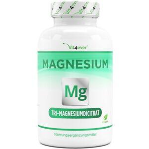 Tri-Magnesiumdicitrat - 365 Kapseln (vegan) á 750mg Magnesium-Citrat Hochdosiert