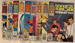 9 New Kids on the Block Harvey Comics (Backstage Pass & Raceway) 1990