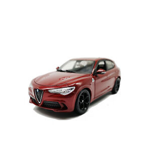 Bburago 1:24 Alfa Romeo Stelvio Diecast Model Sports Racing SUV Car Toy Red NIB