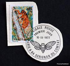 TIMBRE FRANCE OBL. 1° JOUR  Yt 1946 LA CIGALE ROUGE