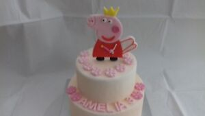 Edible 2D Fairy Princess Figure 5inch tall Personalised Edible Cake Topper piggy
