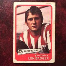1968/69 A&BC Footballer Set LEN BADGER #7 SHEFFIELD UNITED - VG