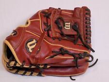 Wilson 11.5 A500 TKD Youth RH Throw Baseball Glove Brown Leather Black Laces