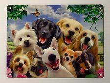 Pet Dogs Selfie SML - Tin Metal Wall Sign