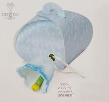 Campanella in ceramica celeste con scatola 45 x h 50 mm bomboniera art 55858